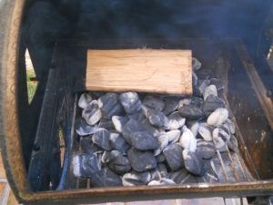 added wood on top of charcoal (1)