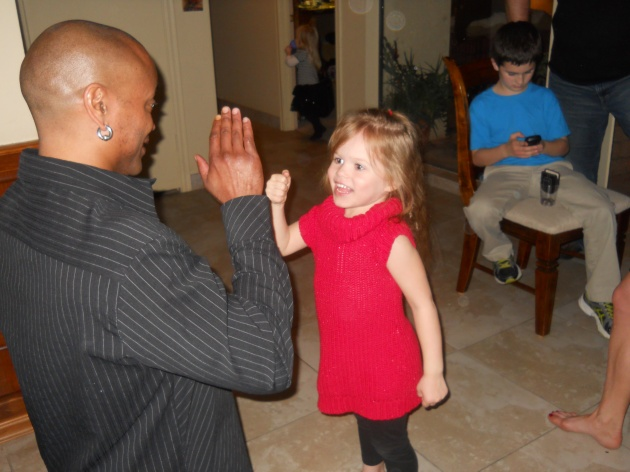 Ash taking boxing lesson from uncle AJ (2)
