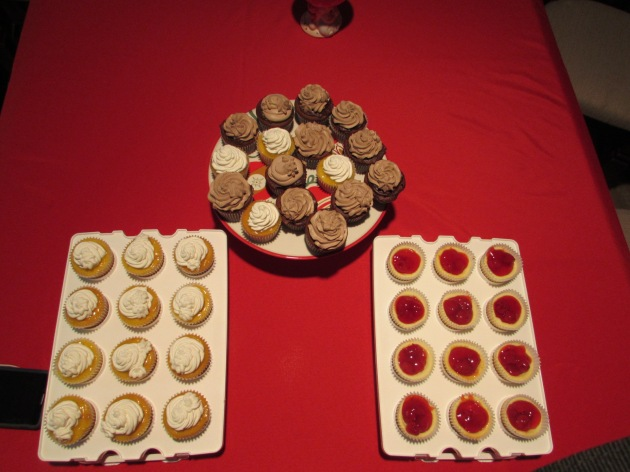 Our dessert table;